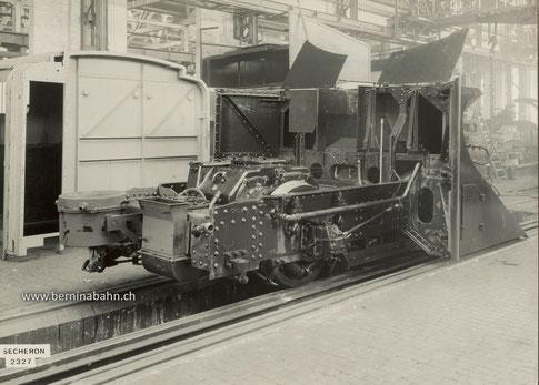 530-001  Privataufnahme aus den frühen Jahren der Berninabahn