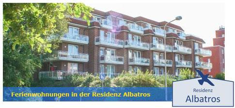 Residenz Albatros in Cuxhaven-Döse, 150 Meter bis zum Strand