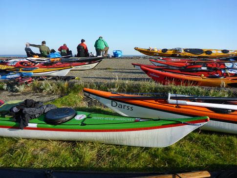 Seekajakfahrer auf Hooge