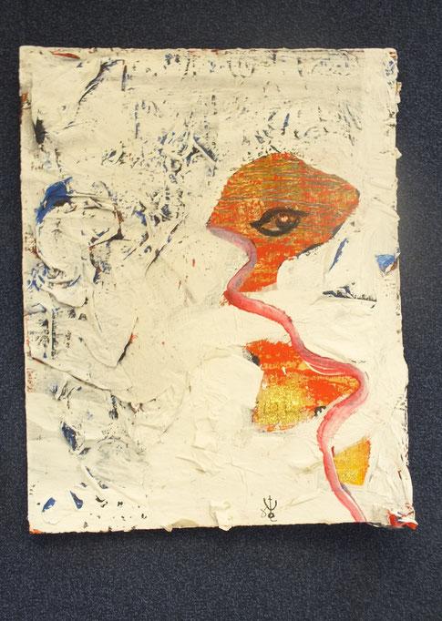 augenblick der zeugung, 40x50cm, Acryl und Mischtechnik auf Hartpappe, 2012, € 80,00