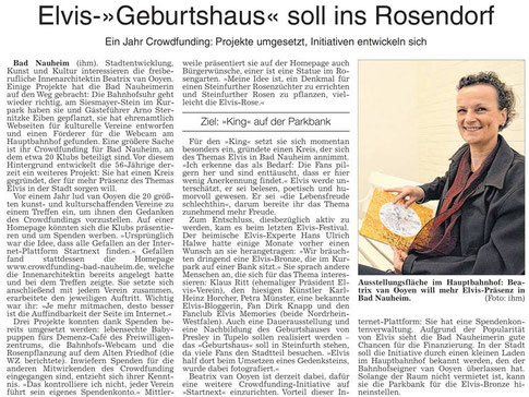 WZ 24 04 2014 - Initiative Elvis in Bad Nauheim, Foto und Text Petra Ihm-Fahle