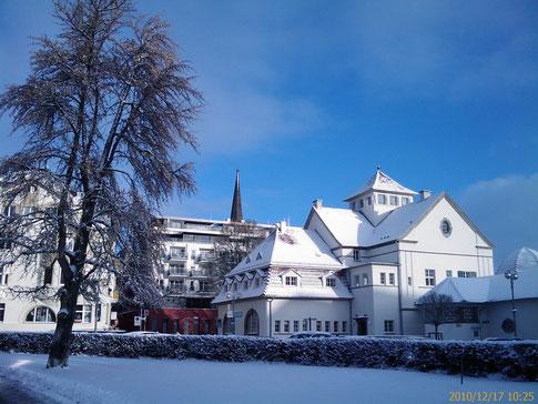 Trinkkuranlage, Plaza und Dankeskirche Bad Nauheim