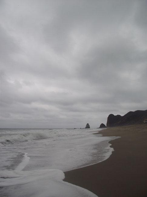 stormy San Lorenzo beach, Ecuador