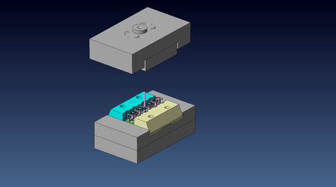 3D CADによる金型設計例