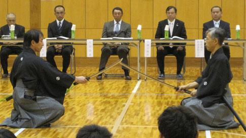 青木先生・市川先生による日本剣道形演武