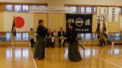 中根先生、青木先生による日本剣道形