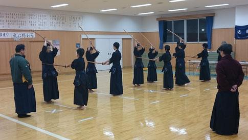 木刀による剣道基本技稽古法 1本目~6本目
