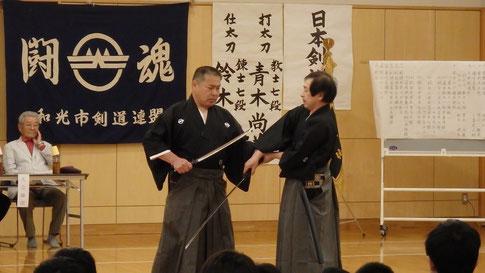 鈴木(暁)先生、青木先生による日本剣道形