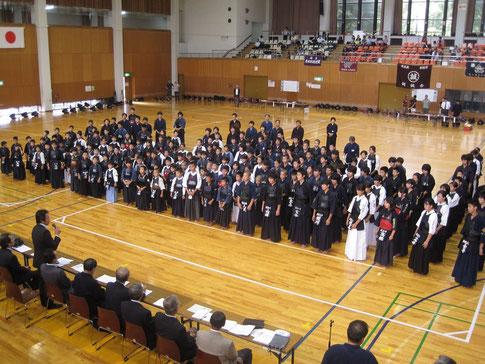第38回 朝霞地区剣道連盟剣道大会 開会式