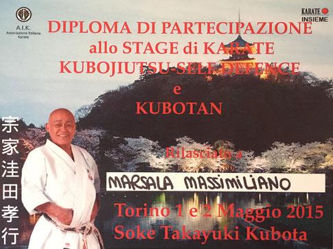 Diploma Massimiliano Marsala kubotan
