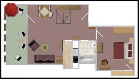 "Grundriss - Wohnung Nr. 1 - ""Skihaserl"""