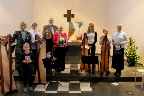 Vernissage am 11.11.2018 mit Harfenensemble der Conrad Hansen Musikschule in der Kapelle im Josefshaus Lipperode