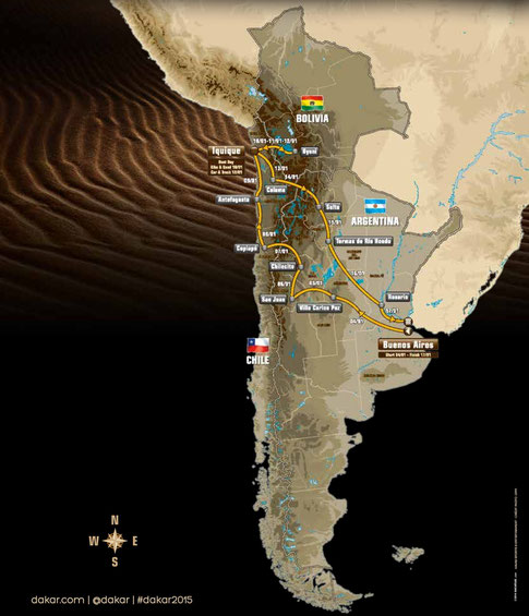 Dakar Website, Rally Route
