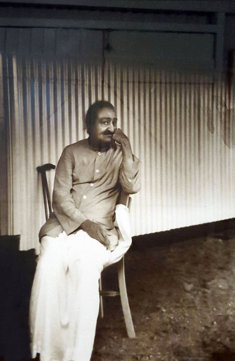 11.  Meher Baba at the Abode.   Photo taken by Colin Adams, courtesy of Avatar's Abode Archives.