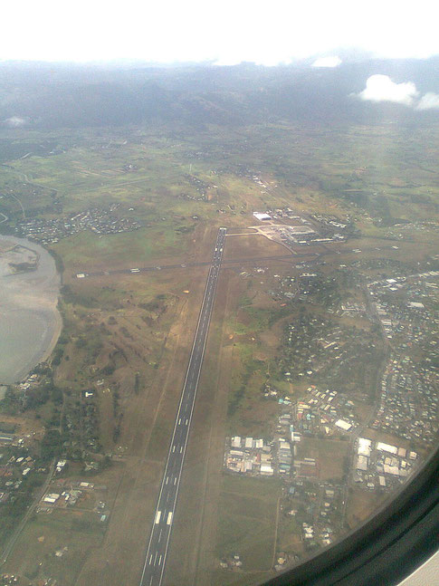 Aerial view of Nadi Airport from the southwest