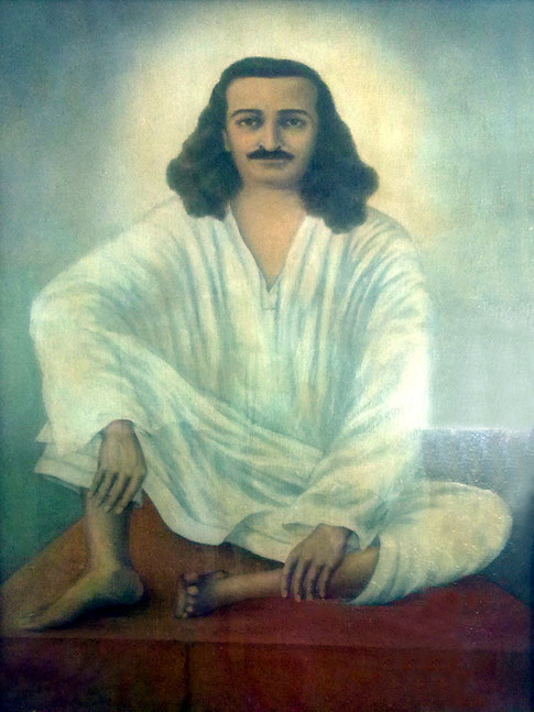 Meher Baba, painted by Rano Gayley.