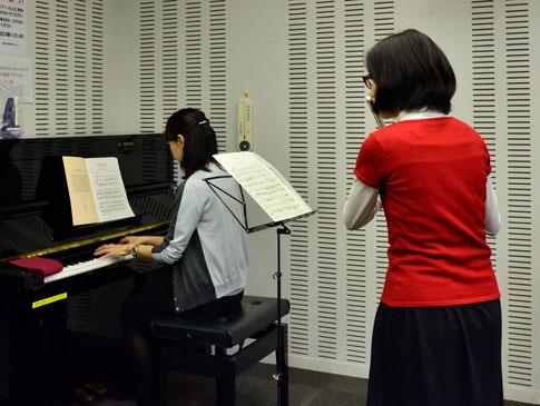 レッスン風景 ピアノと伴奏合わせ