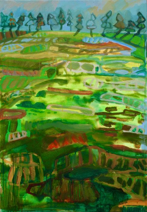 Paysage III,  2018, Acryl auf Leinwand, 115x80