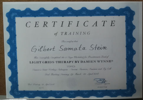Zertifikat Light Grids Therapy Practitioner
