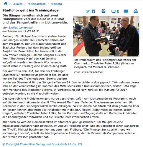 Freie Presse, 11.03.2017