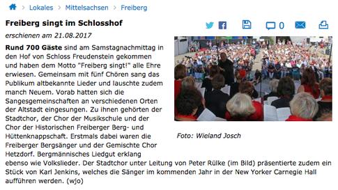 Freie Presse, 21.08.2017