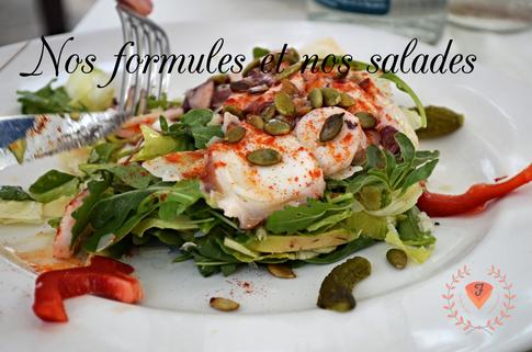 Nos formules du midi et nos salades