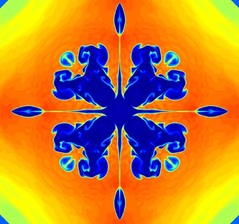 Complex compressible fluid flow computation