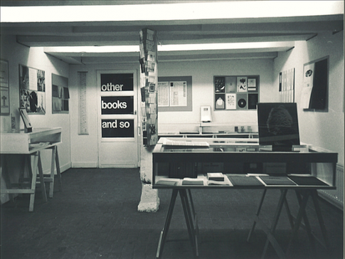 "Exhibition ""Guy Schraenen éditeur"" at Ulises Carrion's ""Other Books and So"", Amsterdam, 1977"