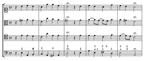 Die Mittelstimmen wurden von Timpelan nach der Vorgabe Telemanns hinzugefügt.