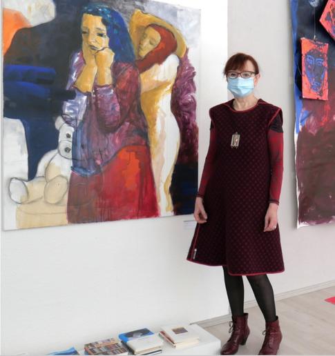 Agnes Pschorn, Foto Matthias Roth  Agnes Pschorn, Foto Matthias Roth  2020 GEDOK Galerie Heidelberg