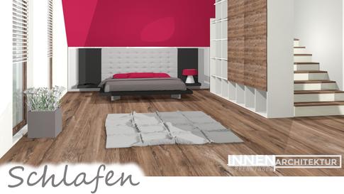 Schlafzimmer Visualisierung  Doppelbett  Schrank modern Innenarchitektur Tischlermeister Brenninger  Einrichtungsber Einrichtungsplaner, Saxen Bezirk Perg