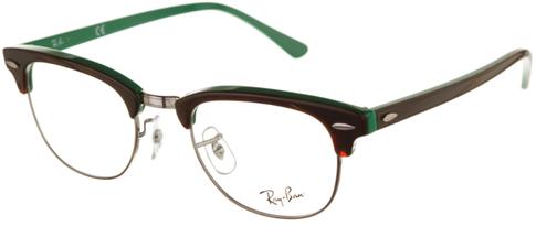 Occhiali da vista Ray-Ban unisex 0RX 5154 Clubmaster. Colore: 5161 havana chiaro su verde. Forma: squadrata. Prezzo € 129,60. Spedizione gratis. Materiale: plastica.