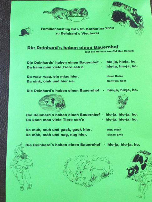 Der Kindergarten St. Katharina aus Feucht hat extra für die Fam. Deinhard ein Liedchen einstudiert. Herzlichen Dank!