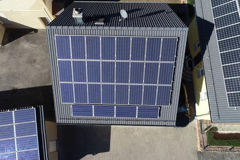 Realbild der obigen Photovoltaikanlage