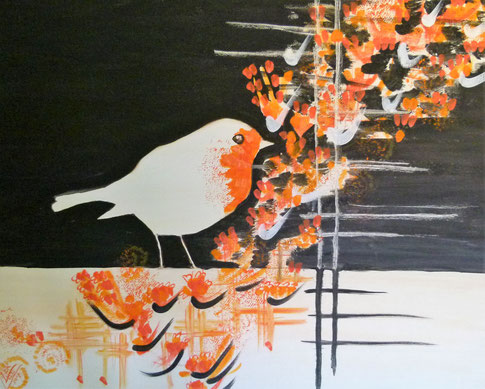 28.Robin oriental   40x50 cm