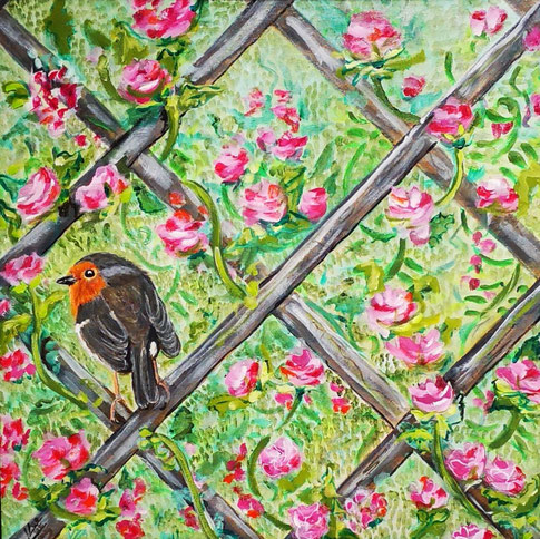 41. Hidden in the rose screen 50x50 cm