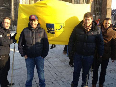 JuLis Ulm bei der Demo gegen ACTA
