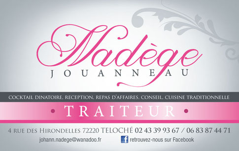 carte de visite Nadège Jouanneau Traiteur