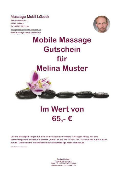 Massagegutschein
