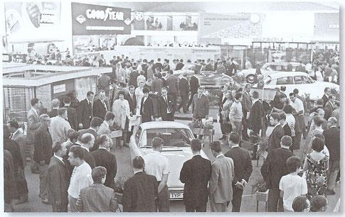 Vorstellung des neuen Porschemodells 911 auf der IAA im September 1963