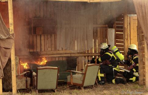 Showübung der Feuerwehr Offenburg
