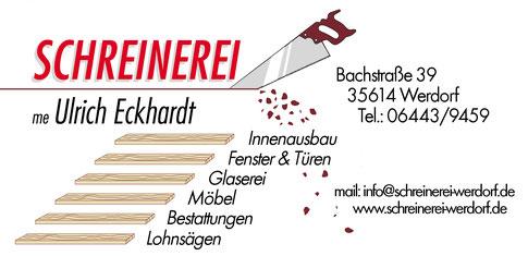 Banner der Schreinerei Eckhardt