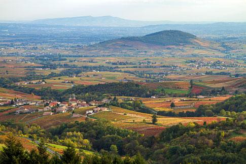 Beaujolais vue panoramique