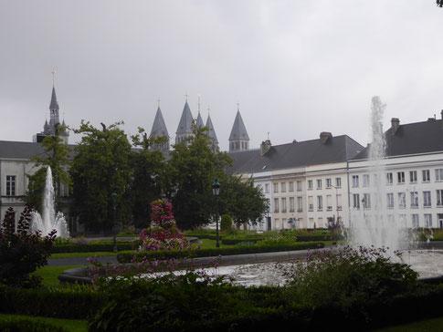 Tournai - Fonteinen op de Squaire Bonduelle.