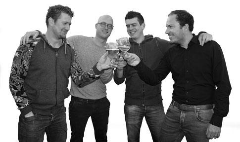De vier brouwers van brouwerij Het Platte Harnas uit Barneveld