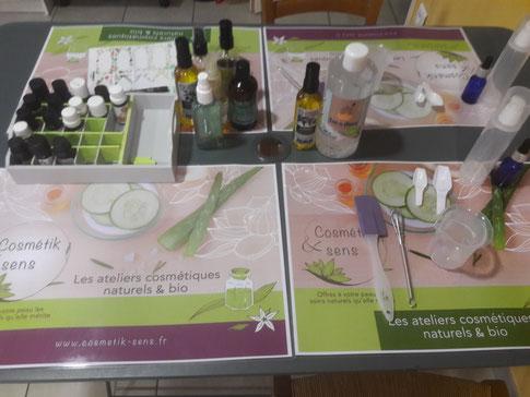 ateliers cosmétiques bio DIY Cosmétik&sens chez ami tomake