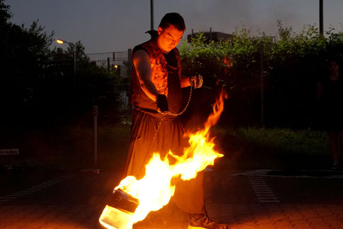 Pyrometheus, Feuershow, Recklinghausen, Ruhrgebiet, Flammen, Feuer