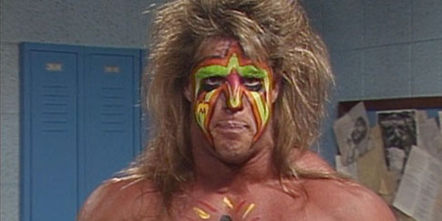 The Ultimate Warrior. Six foot 8??