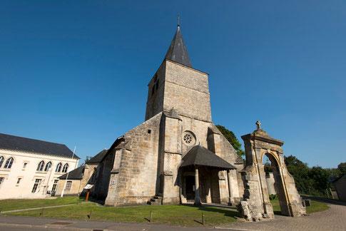 L'église Saint-Maurice à Damvillers entre les champs de bataille de Verdun et d'Argonne