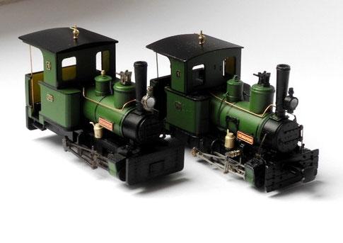 Lok Nummer 1 des Frankfurter Feldbahnmuseums in der Spurweite H0f